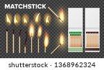 burning matches in matchbooks ... | Shutterstock .eps vector #1368962324