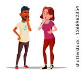 man and woman showing silence... | Shutterstock .eps vector #1368962354
