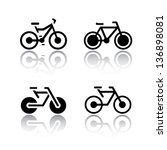 set of transport icons   bikes  ... | Shutterstock .eps vector #136898081