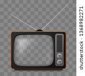 retro television set viewer...