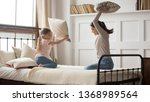 carefree funny little preschool ... | Shutterstock . vector #1368989564