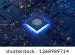 integrated circuit...   Shutterstock . vector #1368989714