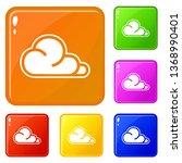 concept cloud icons set...