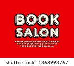 vector colorful sign book salon.... | Shutterstock .eps vector #1368993767