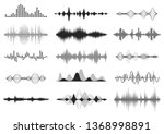 black sound waves. music audio... | Shutterstock .eps vector #1368998891