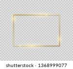 golden square shape. shiny... | Shutterstock .eps vector #1368999077