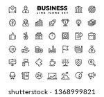 business line icons. finance...   Shutterstock .eps vector #1368999821
