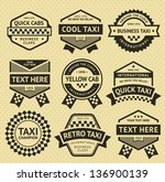 taxi cab set insignia  old... | Shutterstock .eps vector #136900139