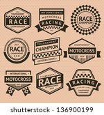 racing insignia. vector... | Shutterstock .eps vector #136900199