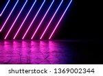 neon light shapes on black... | Shutterstock . vector #1369002344