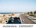 happy cheerful couple of young...   Shutterstock . vector #1369006907