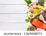 healthy eating food low carb... | Shutterstock . vector #1369008071