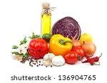 healthy food. fresh vegetables
