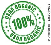 Usda Organic Imprint Isolated...