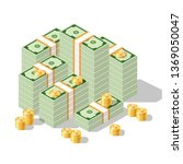 an illustration of a banknote... | Shutterstock .eps vector #1369050047