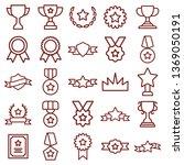 award and medal   minimal thin... | Shutterstock .eps vector #1369050191