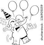 black and white illustration of ... | Shutterstock . vector #136905059