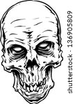 vector skull artwork | Shutterstock .eps vector #136905809