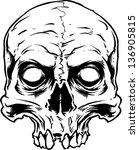 vector skull artwork | Shutterstock .eps vector #136905815