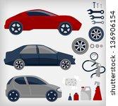 vector set of car service. | Shutterstock .eps vector #136906154