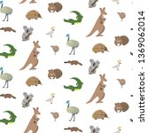 australian animals vector... | Shutterstock .eps vector #1369062014