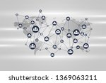 global network connection... | Shutterstock .eps vector #1369063211