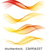 abstract color wave design... | Shutterstock .eps vector #136906337