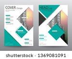 annual report brochure flyer...   Shutterstock .eps vector #1369081091