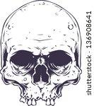 vector skull artwork | Shutterstock .eps vector #136908641