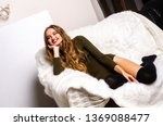 a young girl in a sexy body... | Shutterstock . vector #1369088477