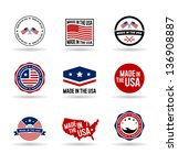 made in the usa. vol 1. | Shutterstock .eps vector #136908887