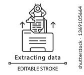 Extracting Data Linear Icon....