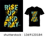 rise up and pray typography t... | Shutterstock .eps vector #1369120184