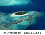 aerial view of tropical... | Shutterstock . vector #1369121651