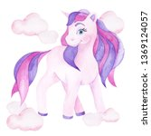 watercolor illustration with... | Shutterstock . vector #1369124057