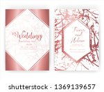 wedding invitation card  save... | Shutterstock .eps vector #1369139657