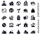travel and leisure icons | Shutterstock .eps vector #1369149314