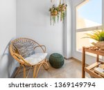 Room Interior With Rattan Chair ...