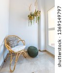 room interior with rattan chair ... | Shutterstock . vector #1369149797