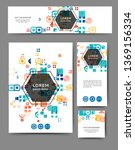 set of advertising flyers and... | Shutterstock .eps vector #1369156334