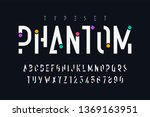 original trendy display font... | Shutterstock .eps vector #1369163951