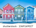 costa nova  portugal  colorful... | Shutterstock . vector #1369169027