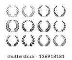 collection of laurel wreaths | Shutterstock . vector #136918181