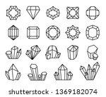 line crystals. mineral gemstone ... | Shutterstock .eps vector #1369182074