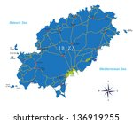 ibiza map | Shutterstock .eps vector #136919255