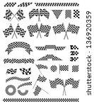 checkered flag | Shutterstock . vector #136920359
