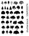 tree silhouette | Shutterstock . vector #136920374