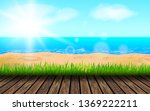 background for summer vacation... | Shutterstock .eps vector #1369222211