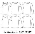 singlet  t shirt and long... | Shutterstock .eps vector #136922597