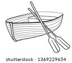 boat with oars. rowing boat for ... | Shutterstock .eps vector #1369229654